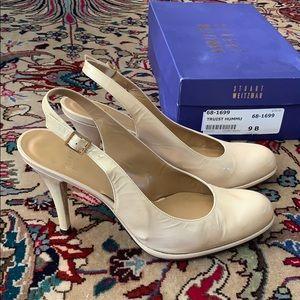 Stuart Weitzman Shoes - STUART WEITZMAN nude sling back heels